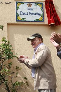 Paul Naschy, en la inauguración de su calle