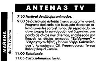Raquel y Teresa Rabal comenzaban a las 9, las 8 en Canarias