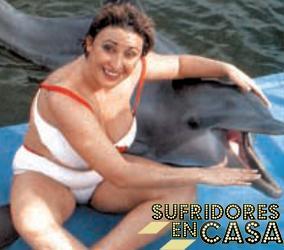 Raquel protagonizando el remake de Liberad a Willy