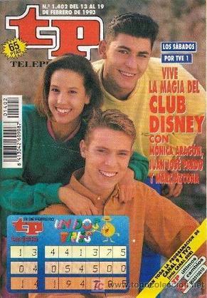 Club Disney y el Un Dos Tres en una misma portada ¿Alguien sabe qué fue de Marc, el rubito?