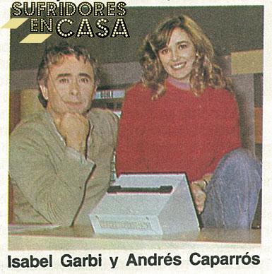 El padre de Alonso junto a Isabel Garbí, antes de ser conocida como La Gemio de la lámpara