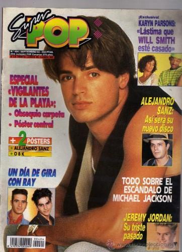 Alejandro Sanz en la portada de la SuperPop, como Pablo Abraira en los setenta