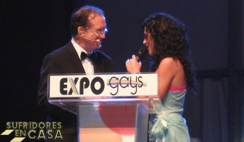 Lucía Pérez y Javier Checa, presentadores de la gala