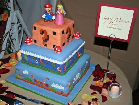 Porque todos los frikis soñamos con casarnos con una tarta asi