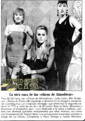 """""""Las tres, en Estress, en La Dos"""""""
