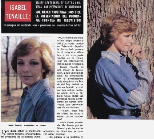 Isabel Tenaille precursora del peinado de Ana Botella