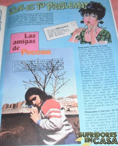 """""""Esther Aguirre, la chica pensatviva de la fotografía, se confiesa una gran seguidora de la revista"""". Claro, qué va a decir la chiquilla con tal de que le publicasen la foto."""