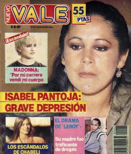 En septiembre del 87, la Pantoja y Madonna eran noticia, igual que esta misma semana