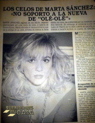 Marta quería ser la Charo Reina del Pop