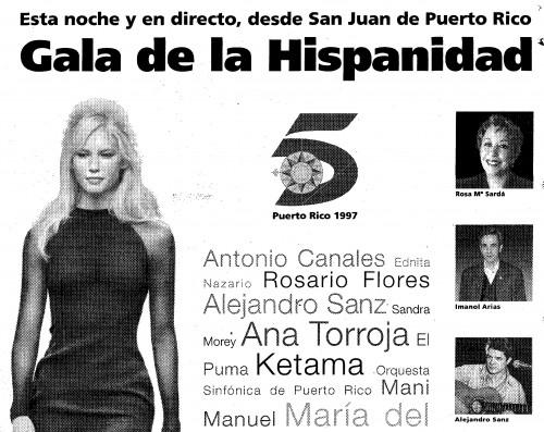 Sandra estuvo en Puerto Rico, pero con tipografía pequeñita