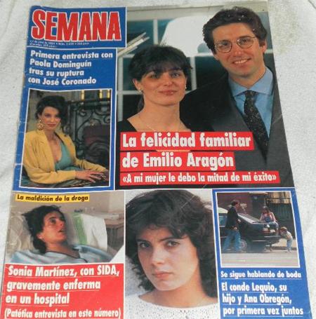 Emilio y su mujer Aruca en portada de revista, como la Esteban, junto a Sonia Martinez y la Obregón