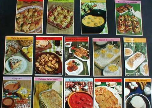 Recetas de cocina TELVA  que te valen de cartas del tarot o como calles del Monopoly