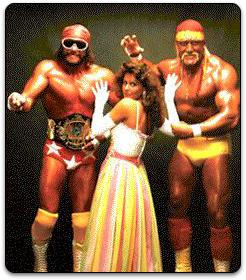 La Bella Elisabeth debatiéndose entre Macho Man y Hulk Hogan, cual lector de SEC en un Apueste por una
