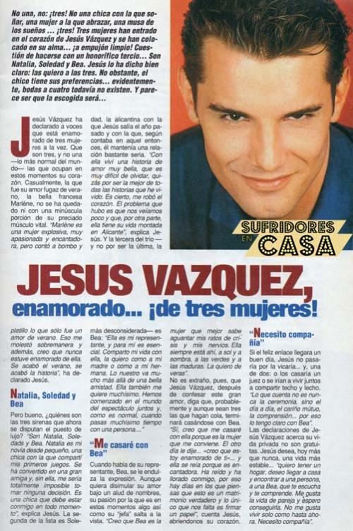 Jesús Vázquez enamorado de tres mujeres