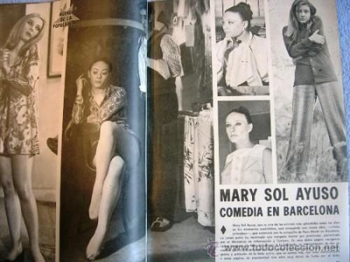 """En sus años mozos. Nos encanta que se llamara """"Mary Sol"""". Suena super a diva internacional"""