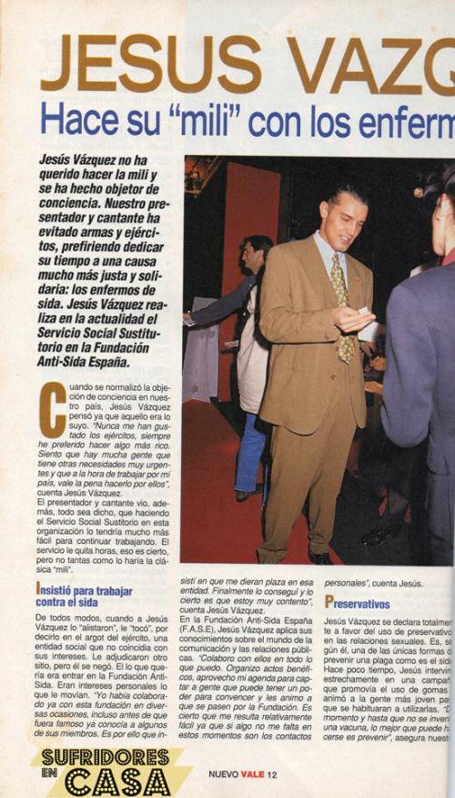 Jesús Vázquez en 1995