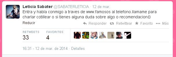 Leticia Sabater Twitter Telefono
