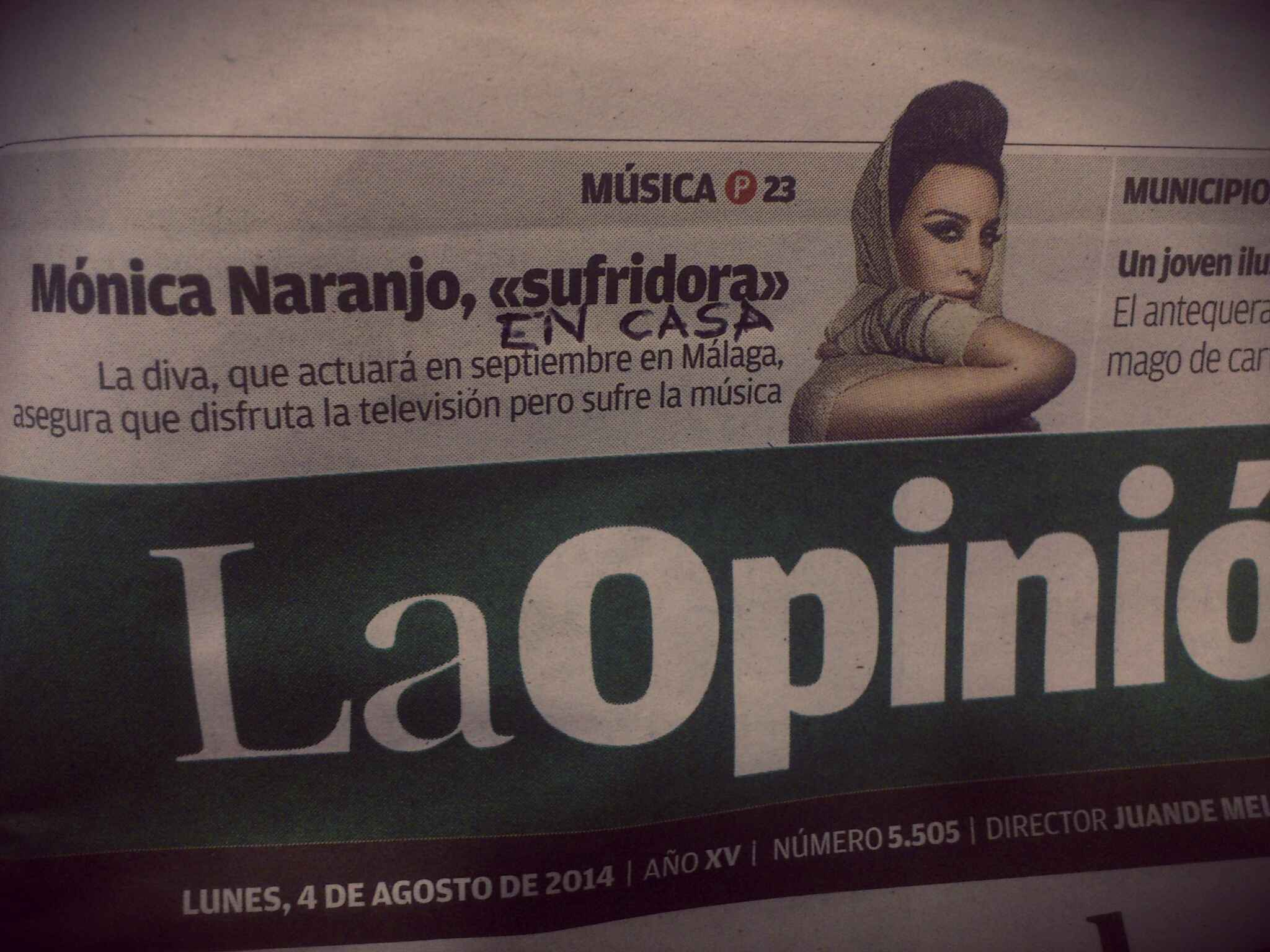 Monica Naranjo Sufridora en Casa
