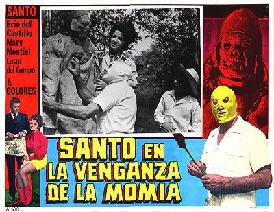 Santo en la venganza de la momia