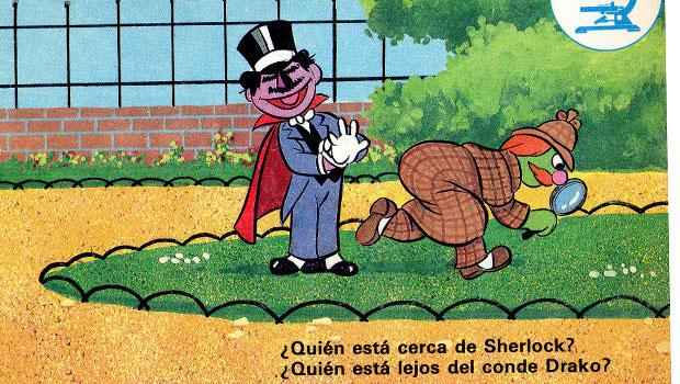 Conde-Drako-y-Sherlock-Barrio-Sesamo