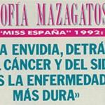 Cuando Sofía Mazagatos comparó el sida con la envidia