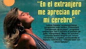 Leticia Sabater joven