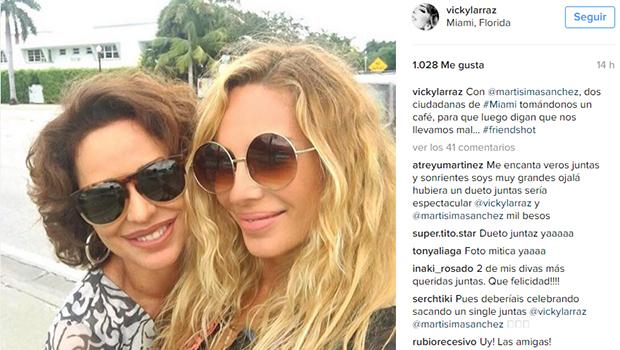 Marta Sánchez y Vicky Larraz, amigas y residentes en Miami
