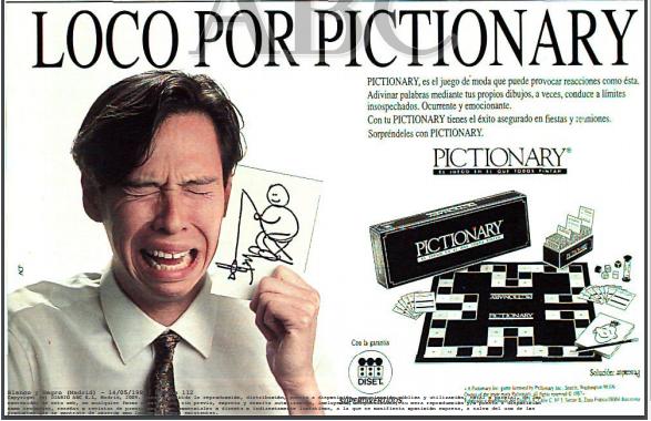 publicidad pictionary 1989