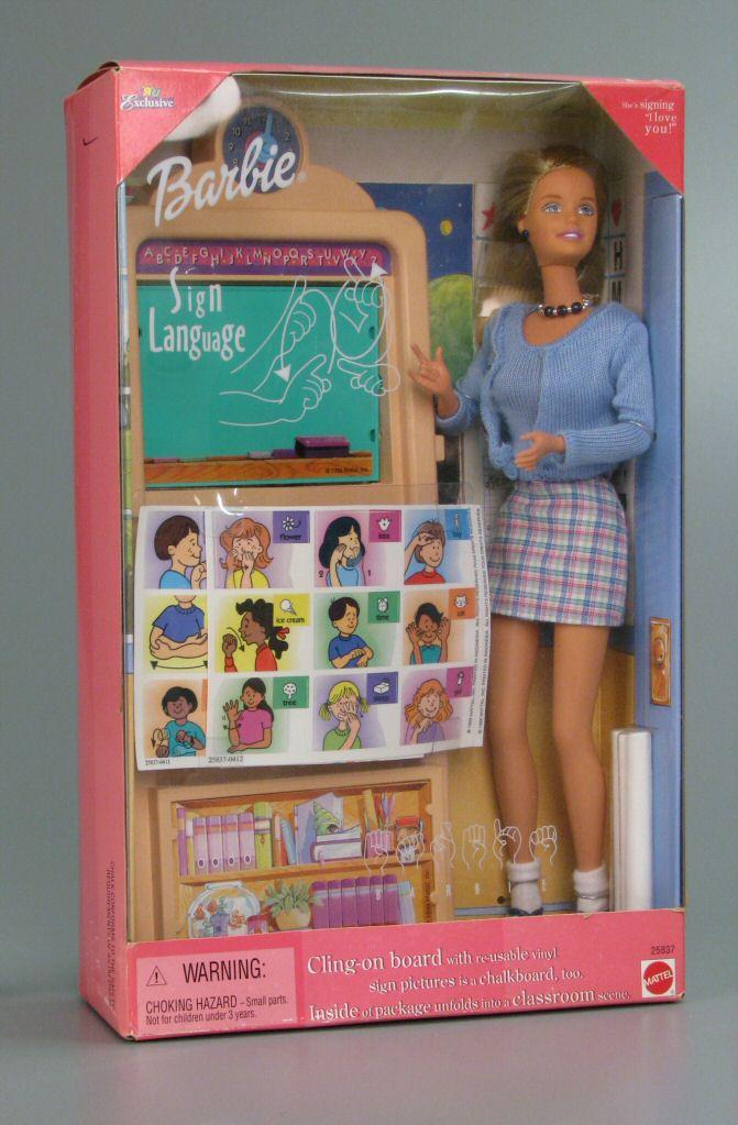 barbie profesora de lengua de signos