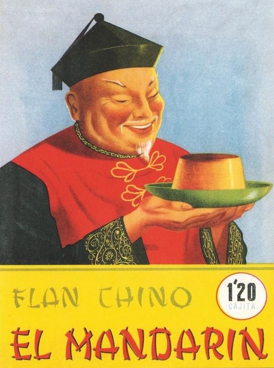 flan chino mandarin publicidad