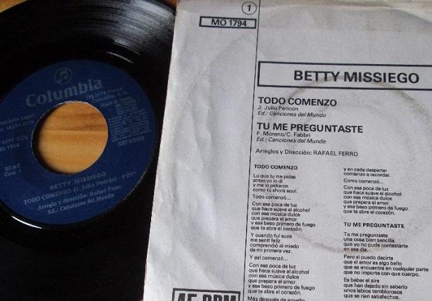 Betty Missiego tu me preguntaste