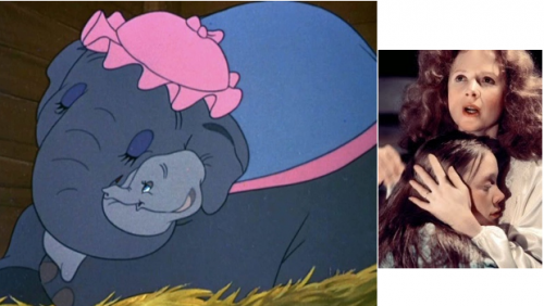 dumbo y carrie madres