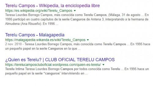 Terelu Campos Canguros