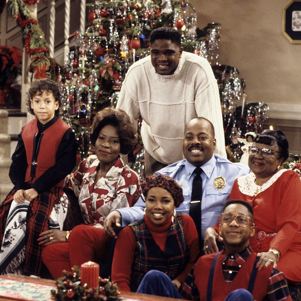 "FAMILY MATTERS - ""Christmas is Where the Heart Is"" - Airdate: December 10, 1993. (Photo by ABC Photo Archives/ABC via Getty Images) BRYTON JAMES;JOMARIE PAYTON;KELLIE SHANYGNE WILLIAMS;DARIUS MCCRARY;REGINALD VELJOHNSON;JALEEL WHITE;ROSETTA LENOIRE"