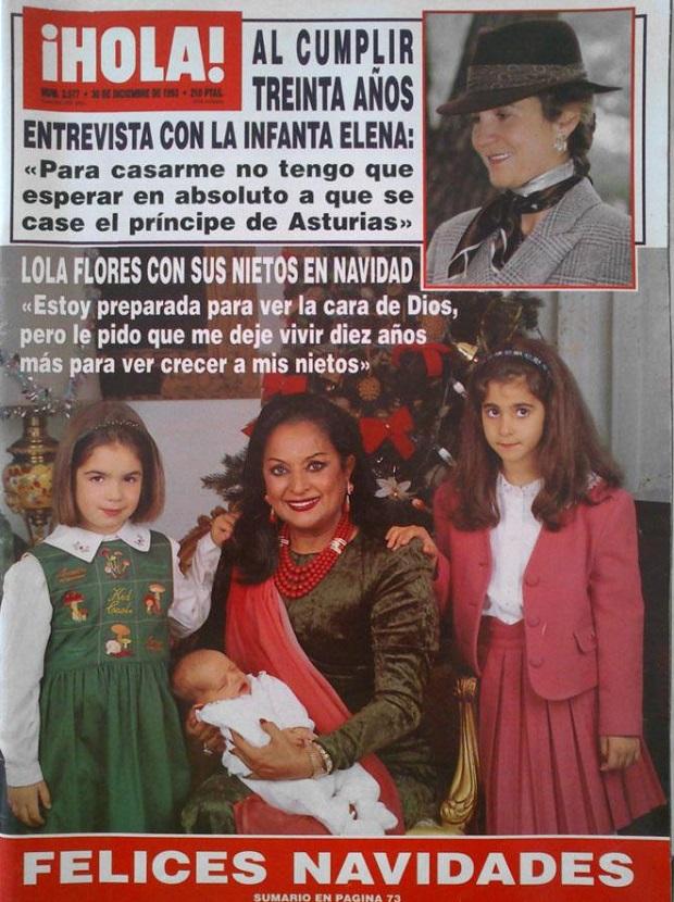 lola flores navidad 1993 nietos
