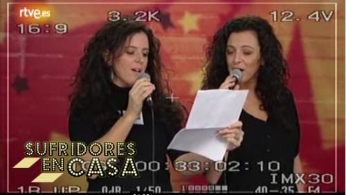 Las Miranda haciendo una cover de la Paparizou en el casting de TVE