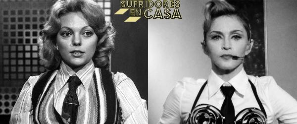 Admito que he puesto la foto de Madonna en blanco y negro para que se parezcan más