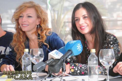 Miren Ibarguren y Elisa Matilla durante la rueda de prensa de la presentación de Lifting