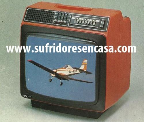 """TELEVISOR GP COLOR 16"""". Bandas: 1a: 3 canales. 3a: 8 canales. 4a y 5a: 48"""
