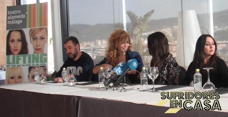 Imagen de la rueda de prensa de la obra Lifting en Málaga