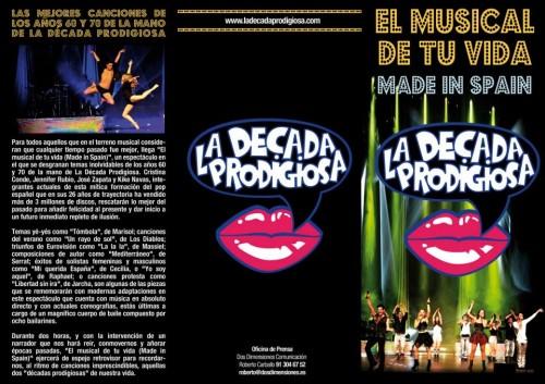 Programa del musical Made in Spain. ¿Iluminarán el escenario con cien mil rayos de sol cada día?