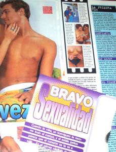 Página al azar de la Revista Bravo. 1998.
