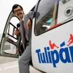 ¿Es un pájaro, es un avión? ¡No, el helicóptero de Tulipán!