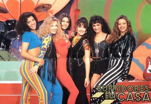 Algunas de las componentes del Super Clan y sus estilismos de los años noventa